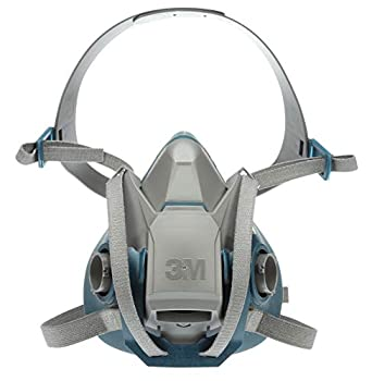 3M Rugged Comfort Quick Latch Half Facepiece Reusable Respirator 6503QL Gases Vapors Dust Large