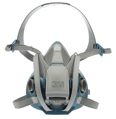 3M Rugged Comfort Quick Latch Half Facepiece Reusable Respirator 6501QL, Gases, Vapors, Dust, Small