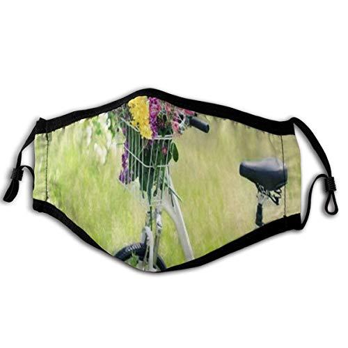 LASINSU Gesichtsbedeckung,Outdoor Blumenfahrrad,Sturmhaube Unisex Wiederverwendbar Winddicht Staubschutz Mund Bandanas Outdoor Camping Motorrad Running