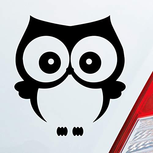 Auto Aufkleber in deiner Wunschfarbe Eule Owl Vogel Bird Uhu süß Tier Musik Dub OEM JDM 10x11 cm Autoaufkleber Sticker
