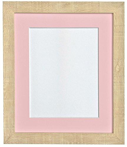 FRAMES BY POST 9 x 7 cm korrel diepe fotolijst met houder, voor 7, roze x 13 cm fotogrootte), lichtbruin