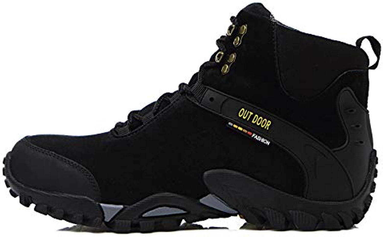 LOVDRAM Boots Men's Winter Help Outdoor shoes Men'S Hiking shoes Plus Cotton Men'S shoes Leather Warm Non Slip