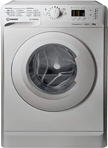 Indesit My Time MTWA81483SUK 8Kg Washing Machine with 1400 rpm - Silver - A+++ Rated