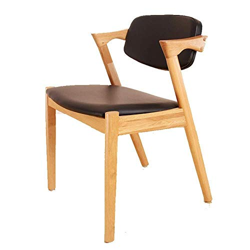 YINGGEXU Dining Chair Dining Chairs Kitchen Counter Contracted Solid Wooden Foot Negotiate Reclining Chair.