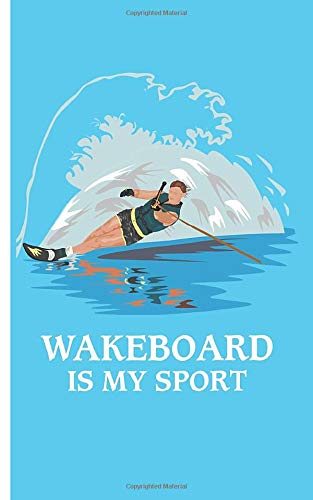 Wakeboard is my sport - Notebook: Notebook with surfer motif checkered | Size 5