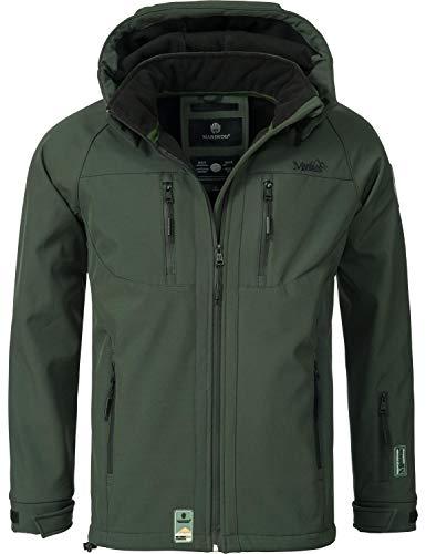 Marikoo Herren Softshell-Jacke Outdoorjacke NOAA Grün Gr. 3XL