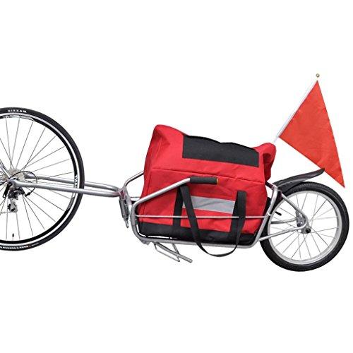 Lingjiushopping Lastenfahrrad mit Aufbewahrungsbeutel Fahrrad-Lastenanhanger Rahmenmaterial: Stahl Maximale Beutellastung: 30 kg