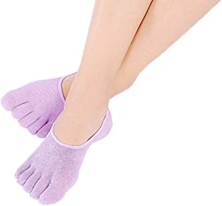 Xiang Ru Cotton Pilates Low Cut Five Finger Toe Socks No Show Sock for Women