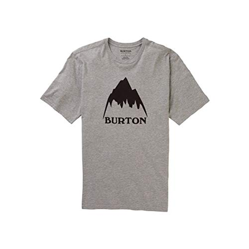 Burton Classic Mountain High T-Shirt Homme Gray Heather FR : M (Taille Fabricant : M)
