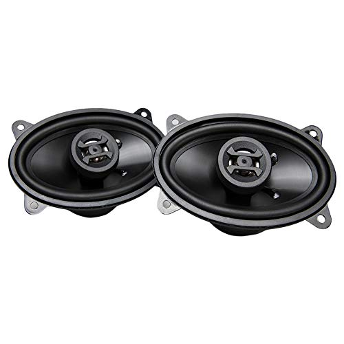 Hifonics ZS46CX Zeus Coaxial Car Speakers (Black, Pair) – 4x6 Inch Coaxial Speakers, 200 Watt, 2-Way Car Audio, Passive Crossover, Sound System (Grills Not Included)