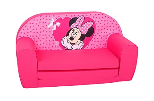 Disney Simba - Sofa Minnie con cuori, colore: Rosa
