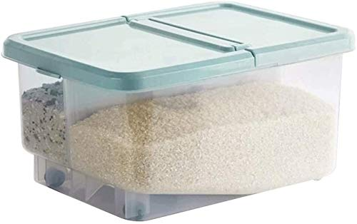 Contenedor de grano Arroz de la cocina Caja de almacenamiento de gran capacidad de cereal de grano dispensador de comida a prueba de humedad del envase cocina sello doble Arroz Caja de almacenamiento