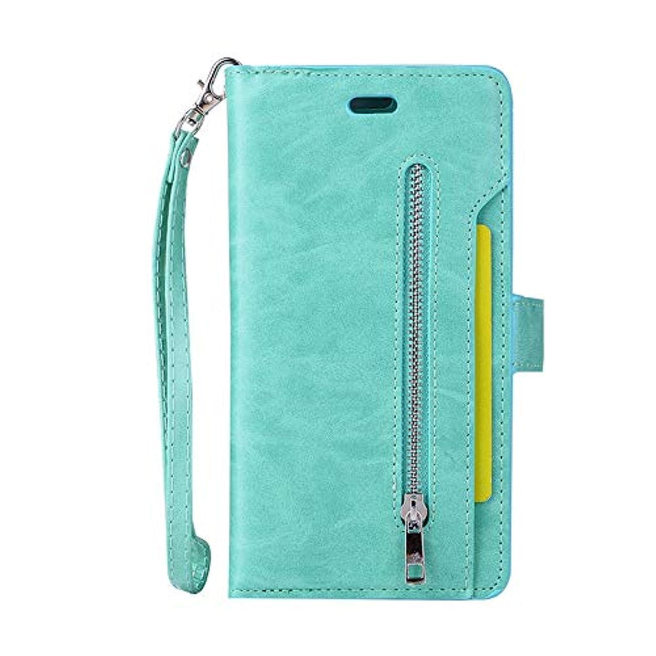 とてもきれいにうまくいけばスマホケース Iphone 7 Plus カード収納、SIMPLE DO マグネット式吸着 分離式 全面クリア スタンド機能 男子 メンズ 高品質 ビジネス用 通勤 通学 おしゃれ(グリーン)