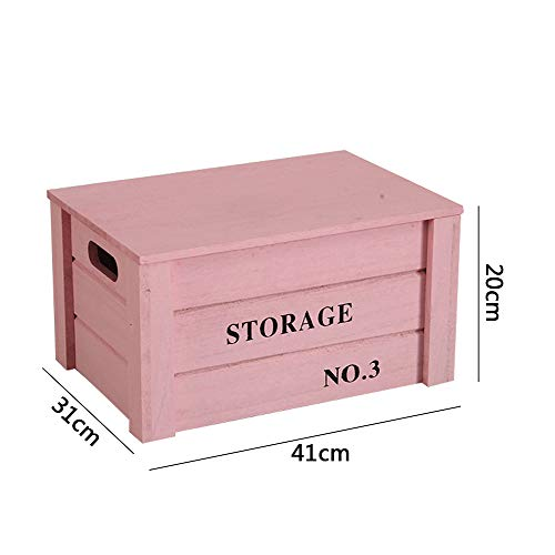 Benfa Caja del Recuerdo de Madera, Nueva Caja de Recuerdos del bebé, del cajón de la Caja de Regalo del bebé,Rosado,ExtraLarge