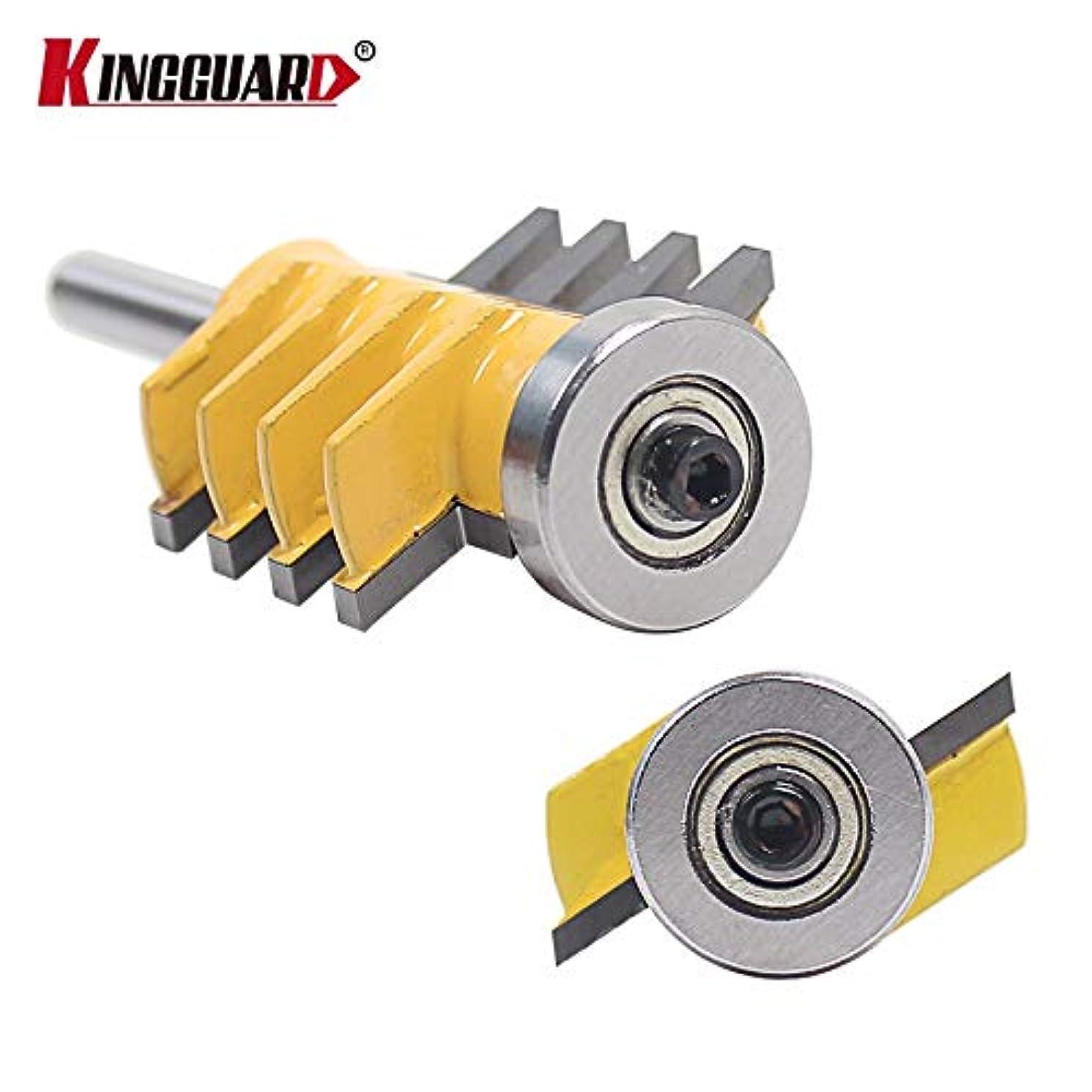 1 piece KINGGUARD 1/4 Shank Rail Reversible Finger Joint Glue Router Bit Cone Tenon Woodwork Cutter Power Tools