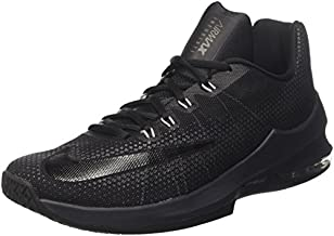 Nike Men's Air Max Infuriate Low Black/Black-Anthracite Ankle-High Basketball Shoe - 11M
