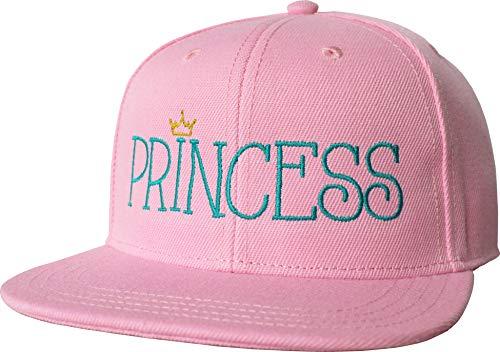 Baddery Gorra para niña: Princess – Gorra de béisbol infantil – Gorra de béisbol – Gorra de tamaño ajustable motivo sombrero unisex – Rosa – Princesa