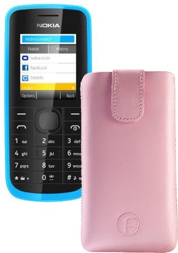 Original Favory Etui Tasche für / Nokia 130 / Leder Etui Handytasche Ledertasche Schutzhülle Hülle Hülle Lasche mit Rückzugfunktion* in rosa