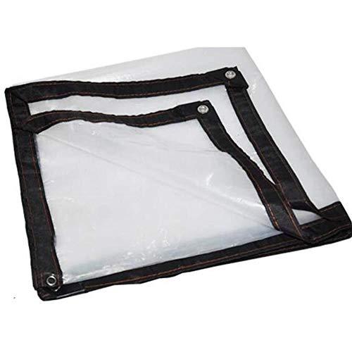 Wangcfsb transparante dekzeil waterdichte folie, met versterkte ogen isolatie broeikas folie zonnezeil helder glas tarpaulin