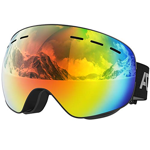 ACURE Ski Goggles- OTG Frameless Snow Snowboard Goggles of Dual Lens with Anti