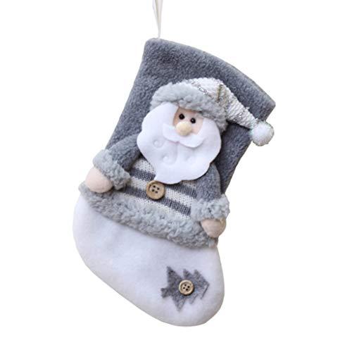 carol -1 Weihnachtsstrumpf, Nikolausstiefel zum Befüllen & Aufhängen, Nikolausstrumpf Weihnachtssocken Hängende Strümpfe für Weihnachtsdeko, Nikolaussocken Kamin Christmas Stocking