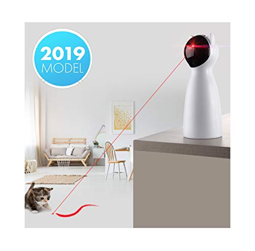 Yvelife Cat Laser Toy Automatic,Interactive Toy for Kitten/Dogs - USB Charging,Placing Hign,5 Random