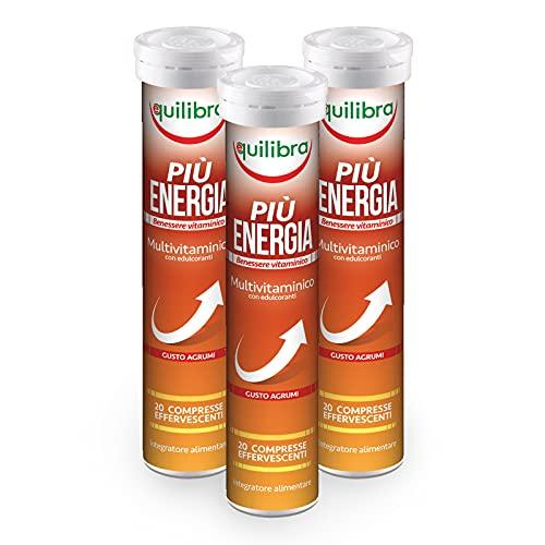 Equilibra Integratore Alimentare Più Energia, Confezione da 3 Pezzi x 20 Compresse