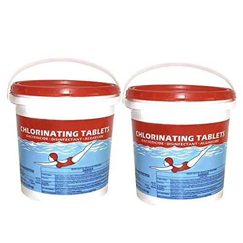 in Stock Chlorinating Tablets 3 iNCH Swimming Pool,50-300Pcs Chlorine Swimming Pool Tablet Tablets Chlorine 3 iNCH (Two Barrel 300 PCS - D)