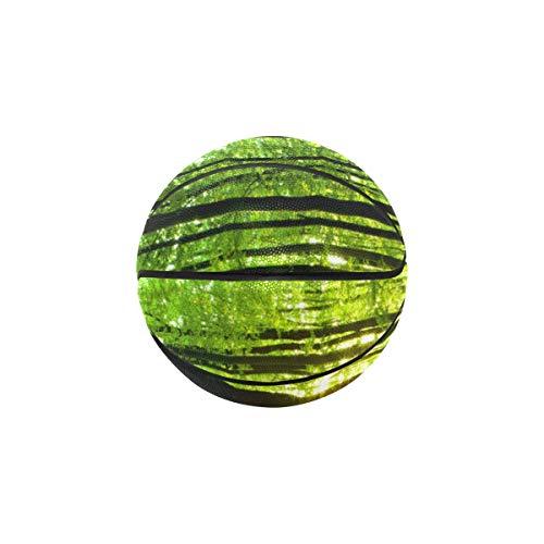 Best Bargain YSWPNA OutdoorWomensBasketball Green Forest Natural Trees Women'sOutdoorBasketb...