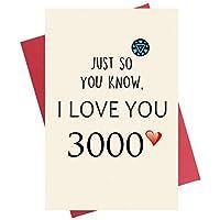 父の日カード 娘から Just So You Know I love You 3000 お父さんへの面白い父の日カード