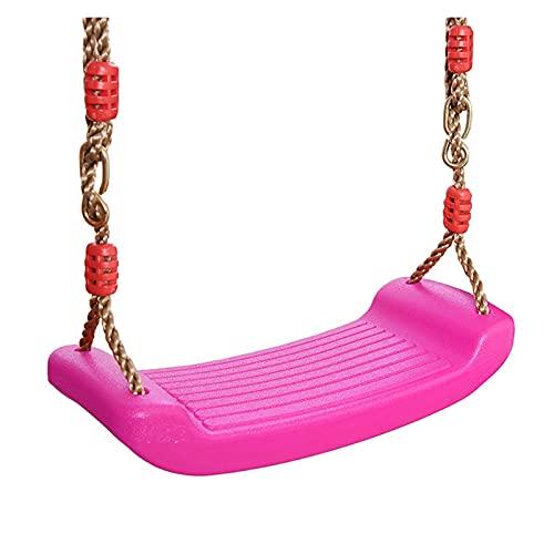 Columpios Juguete volador jardín colgando de colgando juguetes de asiento con altura Cuerdas ajustables for interiores Juguetes al aire libre for exteriores Arco iris Curvado Tablero Swing Silla