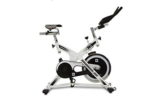 BH Fitness SB2.2 H9162, Bicicletta indoor a frizione, Unisex-Adulto,  Bianco/Nero, 104 x 52 x 119 cm