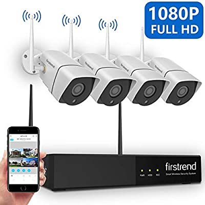 Security Camera System Wireless 1080P NVR Security Systems Outdoor Indoor with 4 Cameras Full HD and Night Vision Without Hard Drive