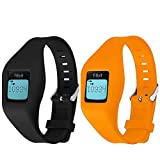 HWHMH Newest Replacement Band for Fitbit Zip Accessory Wristband Bracelet (No Tracker) (01-Black&Orange)