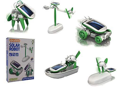 6 in 1 Educational 'do it yourself kit' Solar Kit to Build Robot Toy Car Plane Puppy Airboat Windmill by The Source