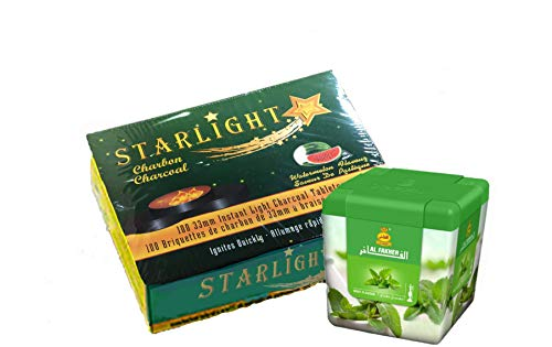 Starlight New Flavor Charcoal(Watermelon) 3 Rolls with Al Fakher...