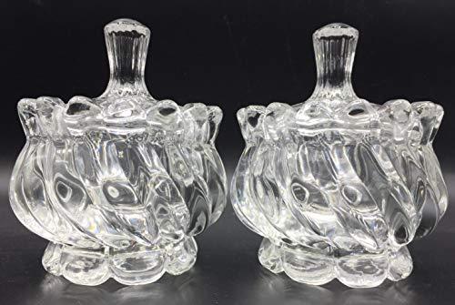 Una Bombonera de Cristal con Tapa para confitera y bombonera de Cristal Cubierto de Vidrio (blanco-1)