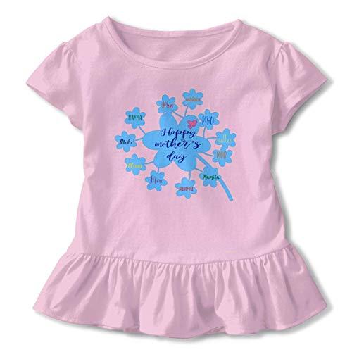 Niñas de Manga Corta Feliz día de la Madre Camiseta de Manga Corta para niños Unisex Ropa de Escalada para bebés Monos Mameluco Manga Corta Onesies Ligeros Negro