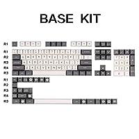 キーキャップ外し SAキーキャップ基本的な製品ベーシックキットダブルABSキーキャップセットのMXメカニカルキーボードスイッチをショット キーキャップ シリコン (Colore : Base kit 1)