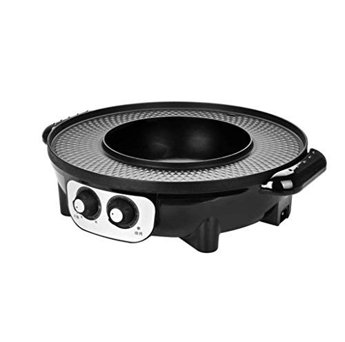 For Sale! XSWZAQ 2-in-1 Electric Cooker With Grill | Interchangeable Stainless Steel Hot Pot Or Fryi...