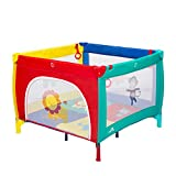 Kinbor Baby Play Portable Playard Play Pen with Mattress Safety Baby Playard with Door Activity Center for Toddler Boys Girls Fun Time 39inch x 39inch