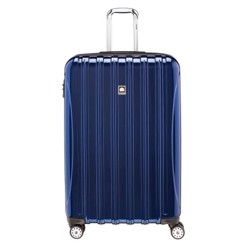DELSEY Paris Helium Aero Hardside Expandable Luggage with Spinner Wheels, Blue Cobalt, Checked-Large 29 Inch