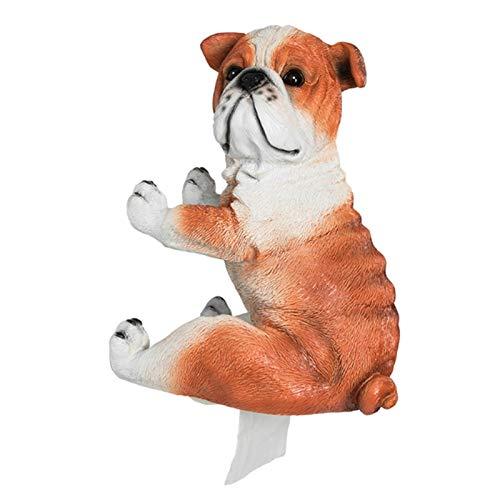 Soporte de papel higiénico de resina, caja de pañuelos para cachorros, rollo de papel higiénico montado en la pared, bandeja de papel higiénico (color: perro)