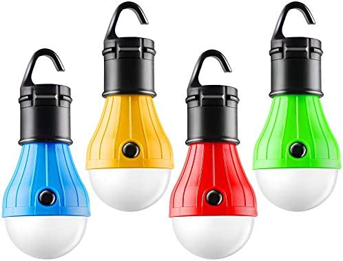 FLY2SKY Tent Lamp Portable LED Tent Light 4 Packs Hook Hurricane Emergency Lights LED Camping product image