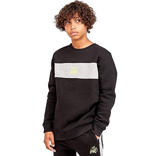 Kings Will Dream Junior Sweatshirt Kisha Contrast Chevron Crew Neck Navy Blue