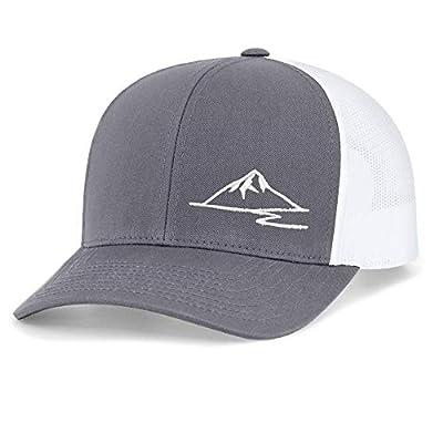 Low Key Caps | Trucker Snapback Baseball Hat - Mountain