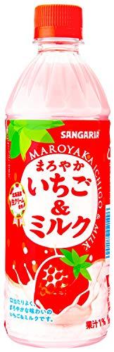 サンガリア まろやかいちご&ミルク 500ml ×24本