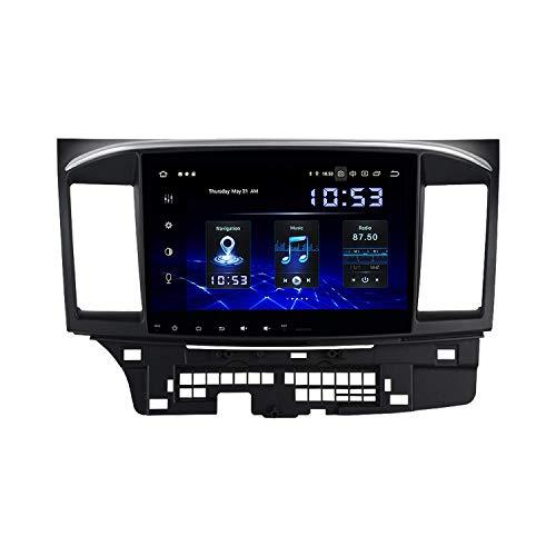Reproductor Multimedia para automóvil 10.2'Android 10.0 Estéreo para automóvil de un Solo DIN con Android Auto para Mitsubishi Lancer EX 10 EVO 2007 a 2017 Bluetooth Radio para automóvil Pantalla IP