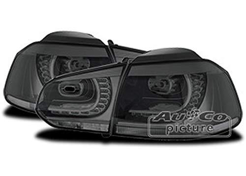 1 paar achterlichten V Golf 6 van 2008 tot 2013 LED Smoke VW110122