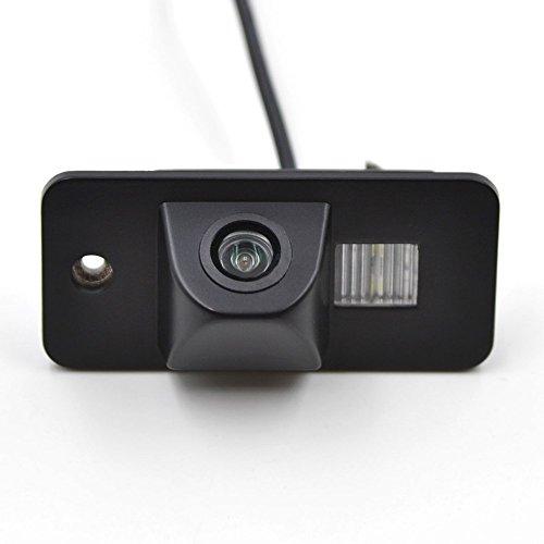 Auto Rückfahrkamera in Kennzeichenleuchte Wasserdicht Nachtsicht Rückansicht Kamera Einparkhilfe Rückfahrsystem für Audi A3 A4 A5 A6 A8 Q3 Q5 Q7 A6L A8L A4L/5D B7 B8 B9 R36